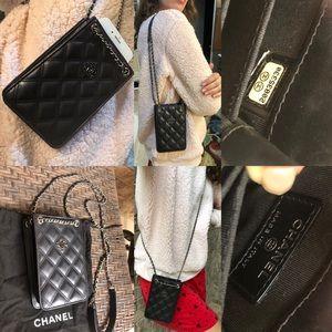 Authentic Chanel CC Phone Holder Bag
